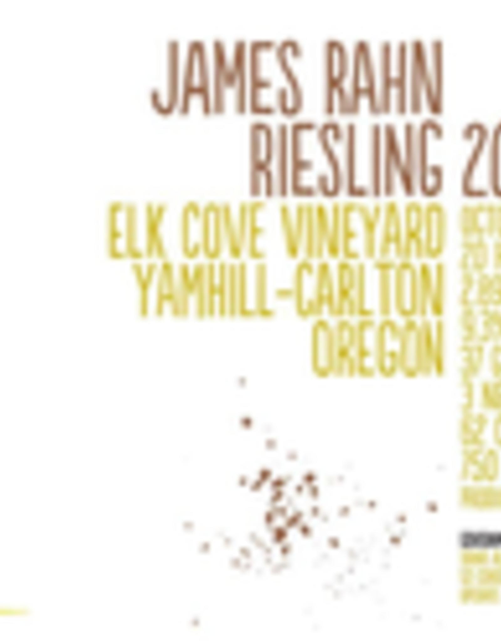 "Riesling, Yamhill-Carlton, ""Elk Cove,""  James Rahn Wine Company 2016"