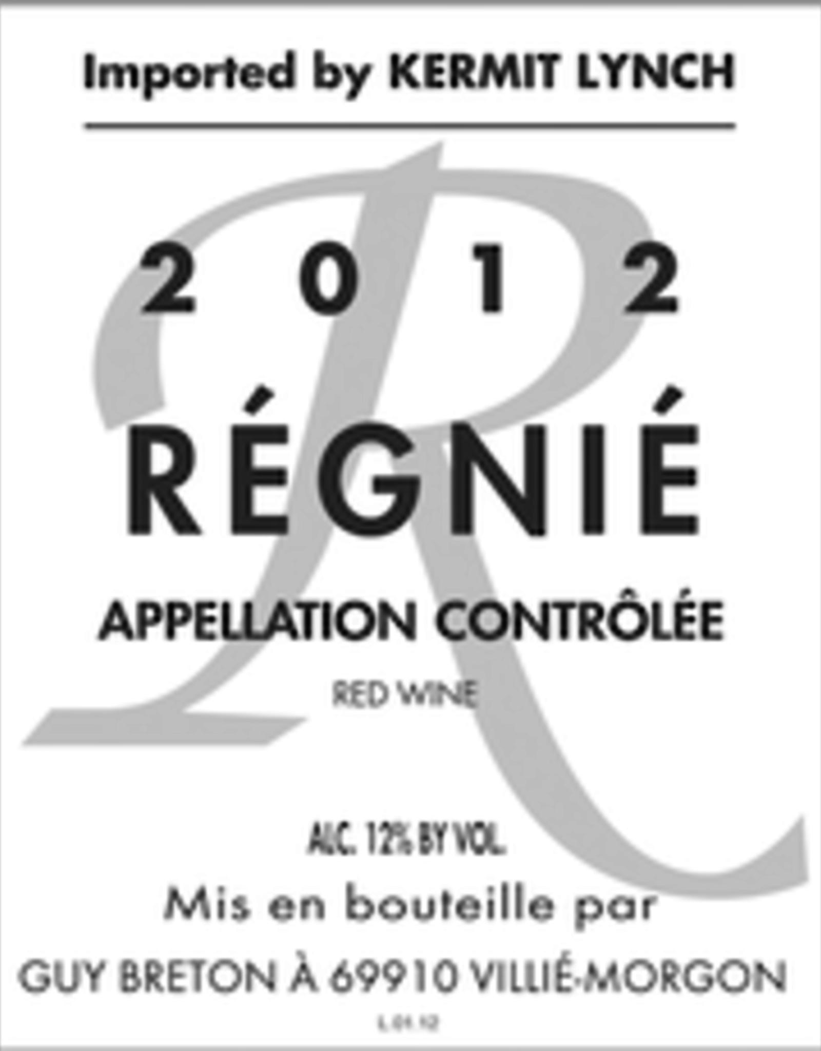 Gamay, Regnie, Guy Breton 2018