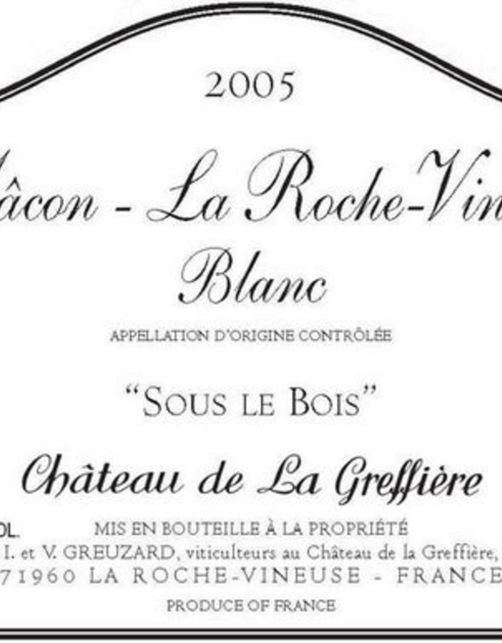 W Burgundy, Macon La Roche-Vineuse, Sous Le Bois, Chateau de la Greffiere 2019