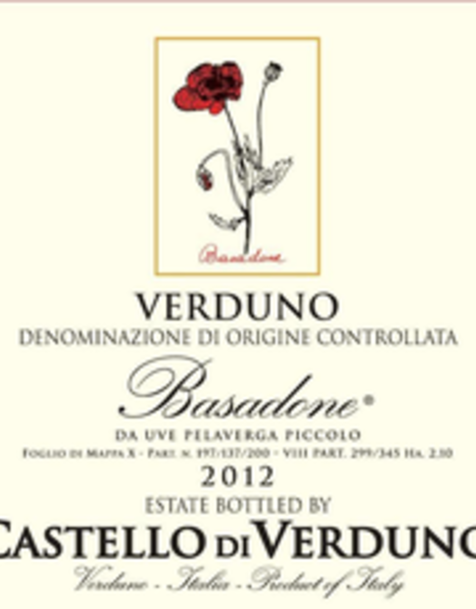 """Pelaverga, Verduno, """"Basadone,"""" Castello di Verduno 2019"""