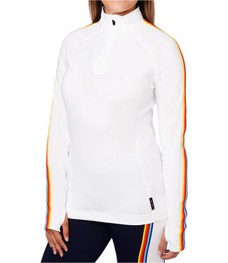 Hot Chillys WOMEN'S MICRO ELITE RETRO SKI ZIP-T