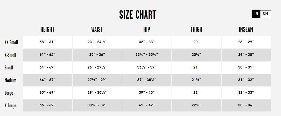 Women's Volcom Pant Size Chart
