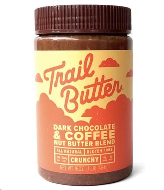 TRAIL BUTTER Trail Butter: 16oz Jar of Dark Chocolate & Coffee