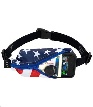 SPIBELT SpiBelt: Stars & Stripes Fabric/Blue Zipper