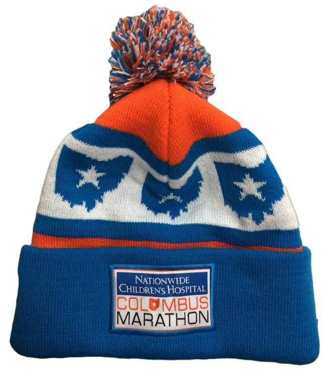 Columbus Marathon Winter Pom Beanie