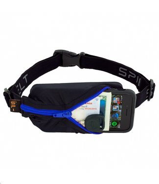 SPIBELT SpiBelt: Black Fabric/Blue Zipper