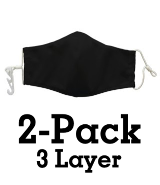 National Facewear 3-Layer MASK: 2-PACK
