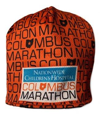Columbus Marathon Fleece Lined Beanie (Orange)