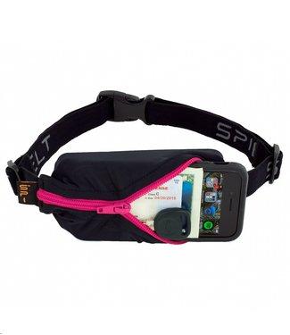 SPIBELT SpiBelt: Black Fabric/Hot Pink Zipper