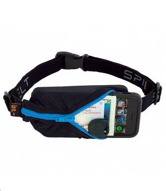 SPIBELT SpiBelt: Black Fabric/Turquoise Zipper