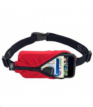 SPIBELT SpiBelt: Red Fabric/Black Zipper