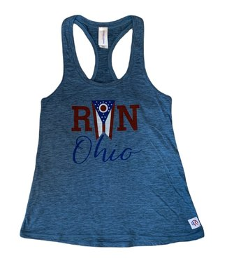 CRC Women's Run Ohio Flag Athletic Tank