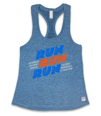 SKY Columbus Marathon Women's Run Run Run Athletic Tank