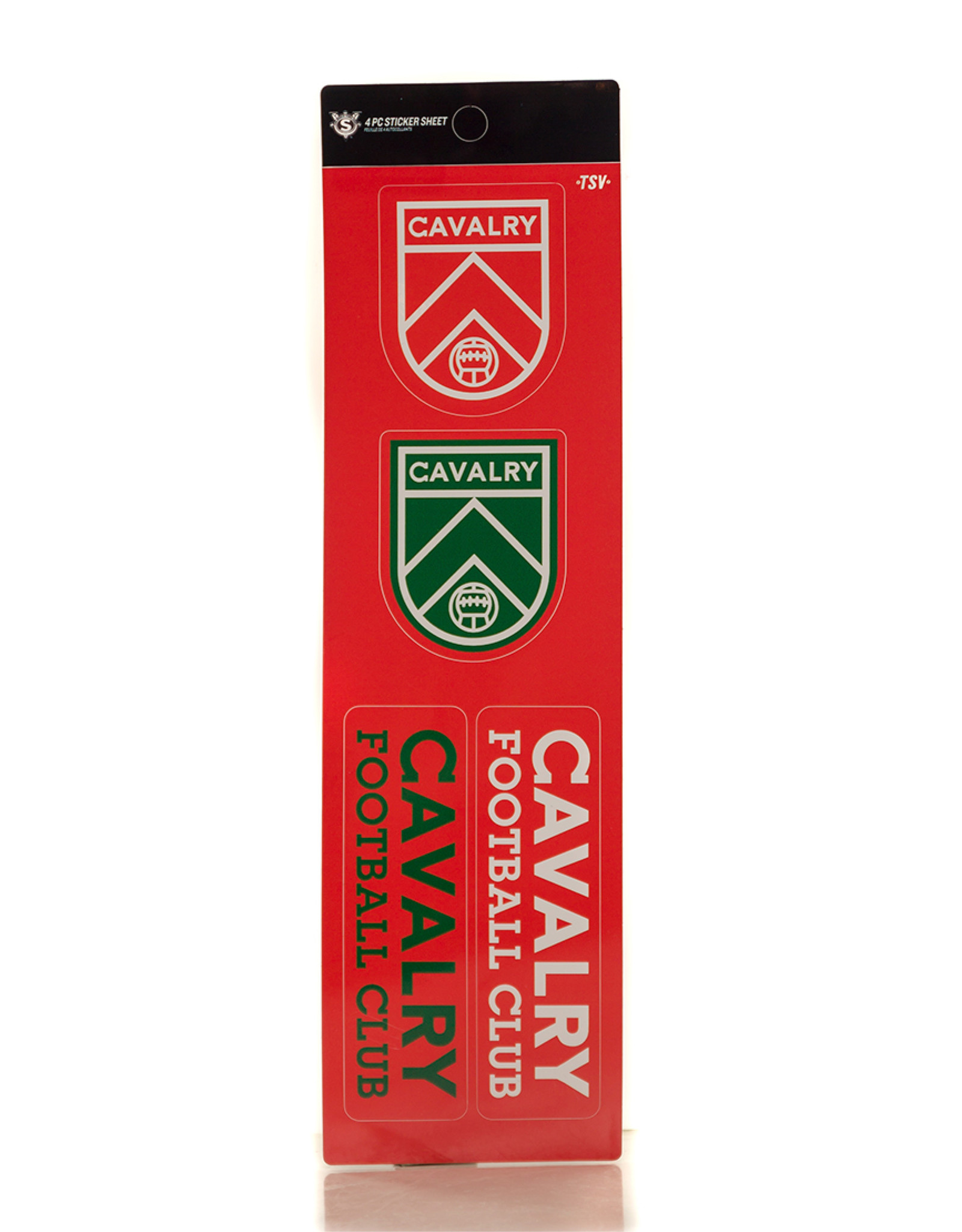Sports Vault Cavalry FC 4-Piece Sticker Set