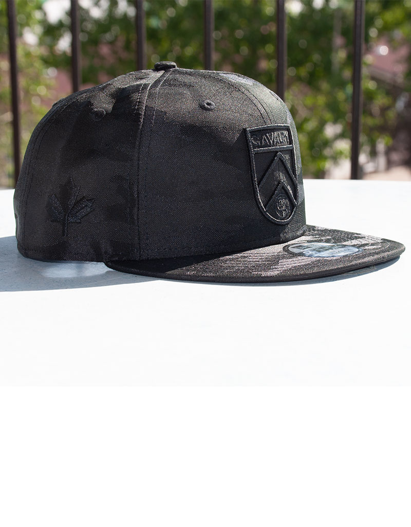 New Era Black Camo Snapback Cap