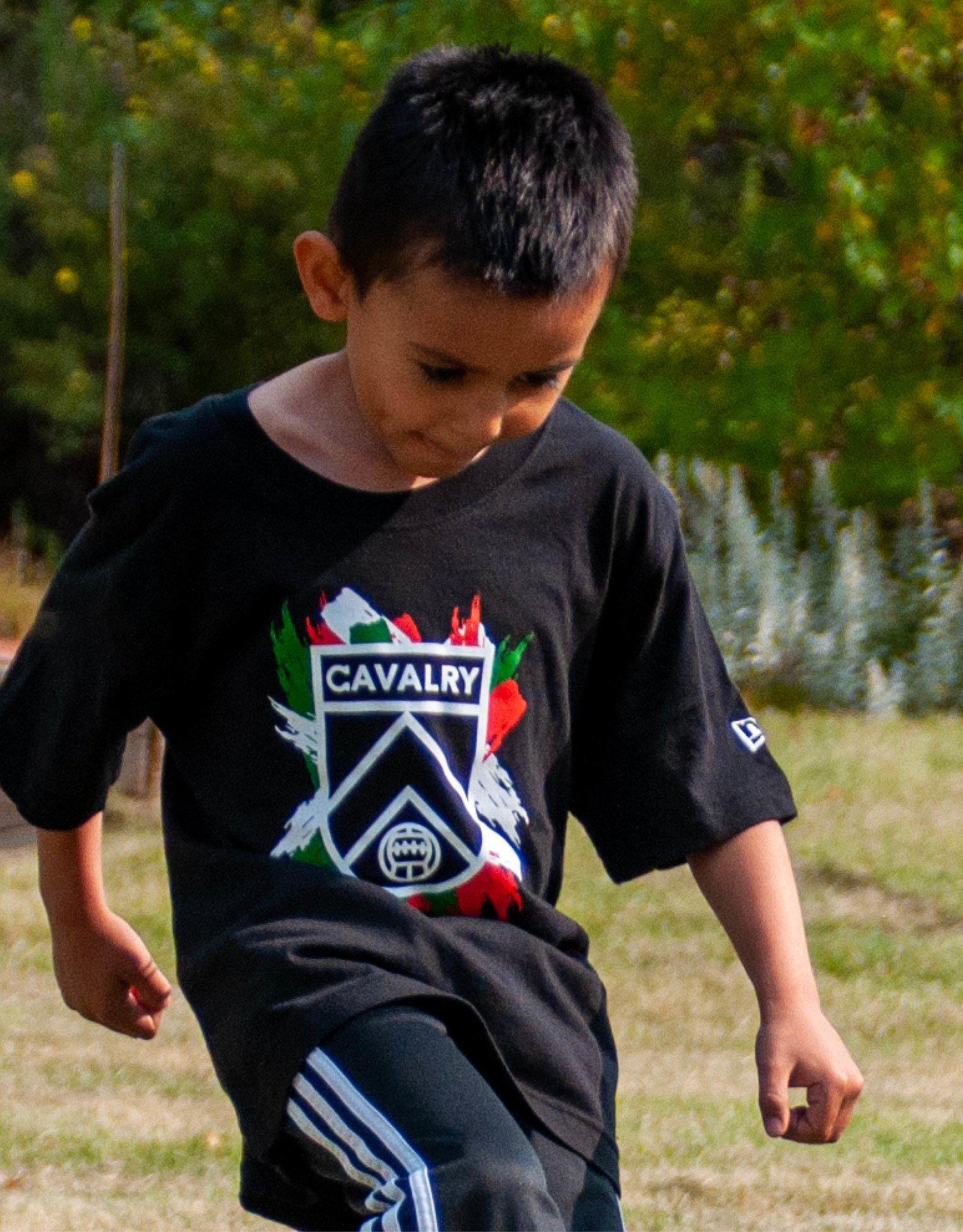 New Era Youth Splash Cavalry FC Tee