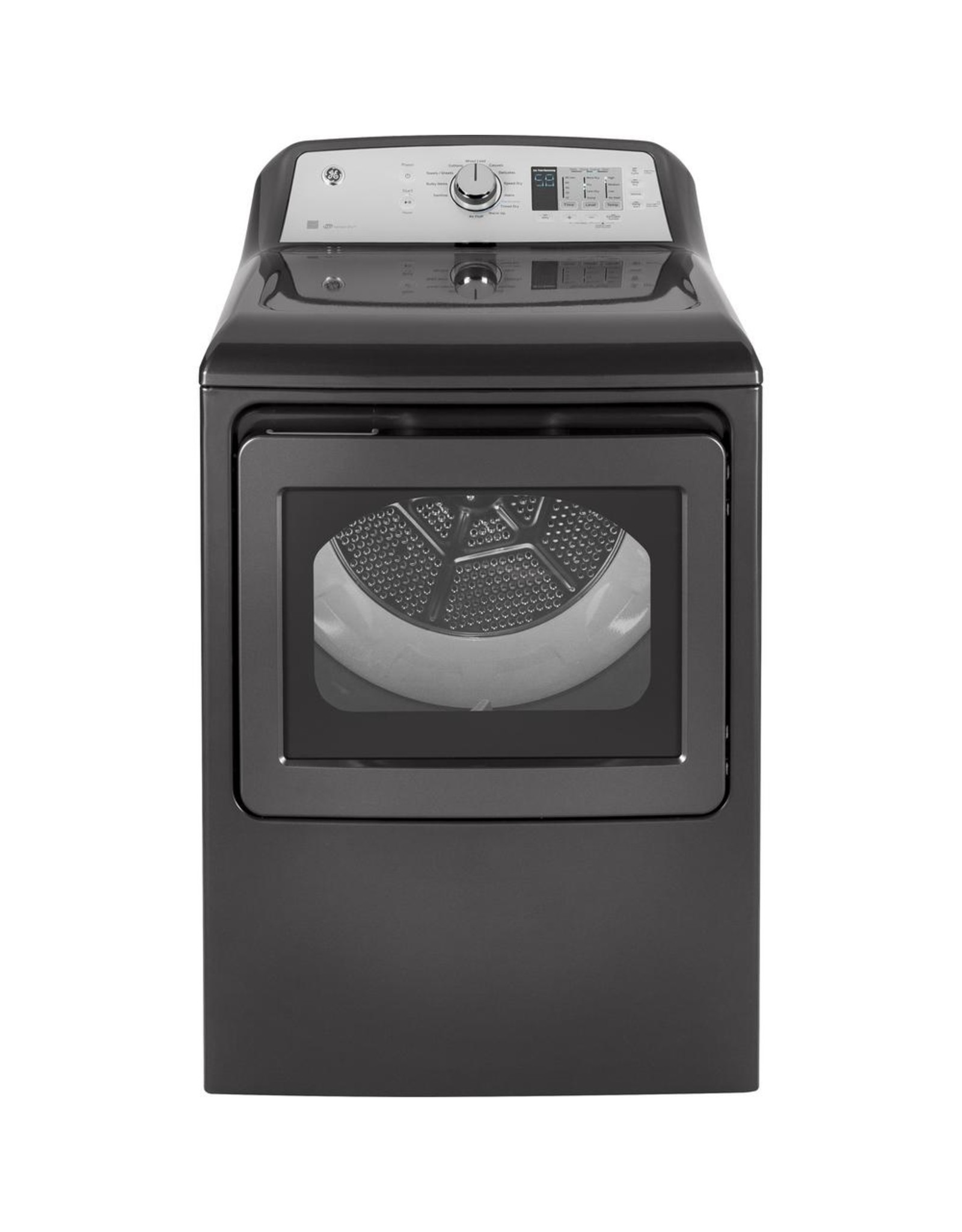 GE GTD72EBPNDG GE 7.4 cu. ft. 240-Volt Diamond Gray Electric Vented Dryer with Sanitize Cycle, ENERGY STAR