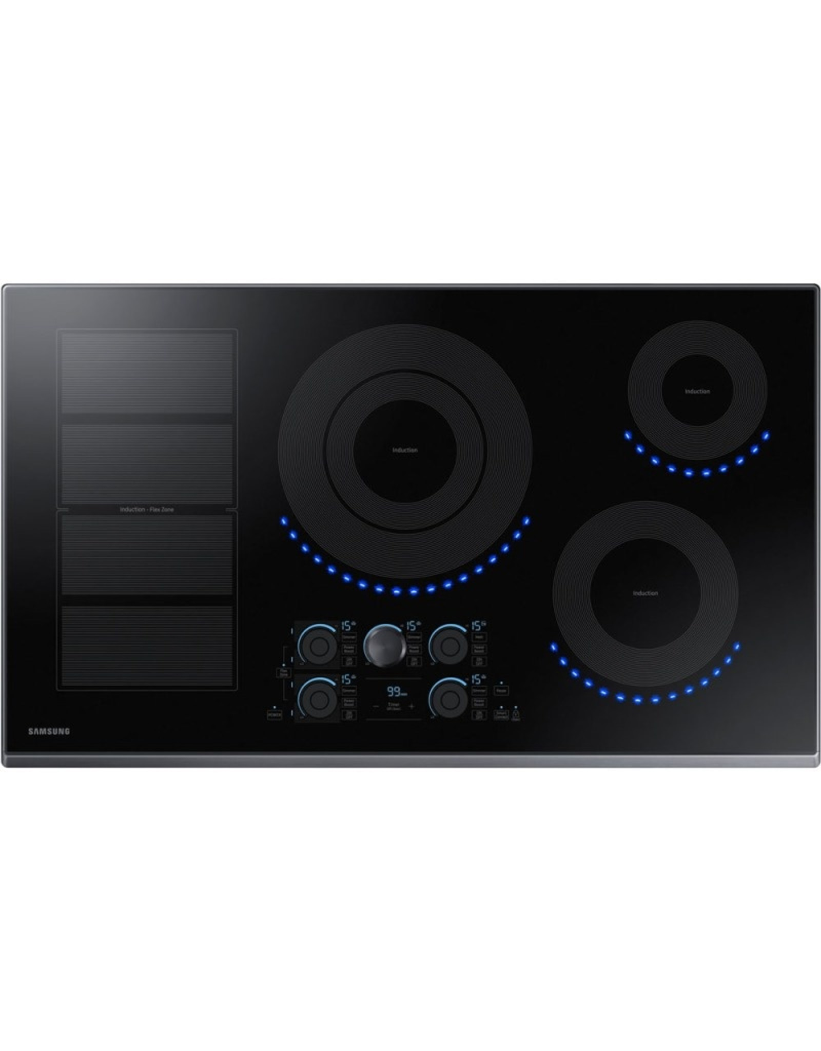 "SAMSUNG NZ36K7880UG Samsung 36"" Induction Cooktop, Flex Zone, 1-7"",11"" Dual 4.8K Boost, 1-8"