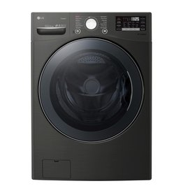 LG Electronics WM4370HKA 4.5 111cu. ft HE Ultra Large Smart Front Load Washer with TurboWash360, Steam & Wi-Fi in Black Steel, ENERGY STAR