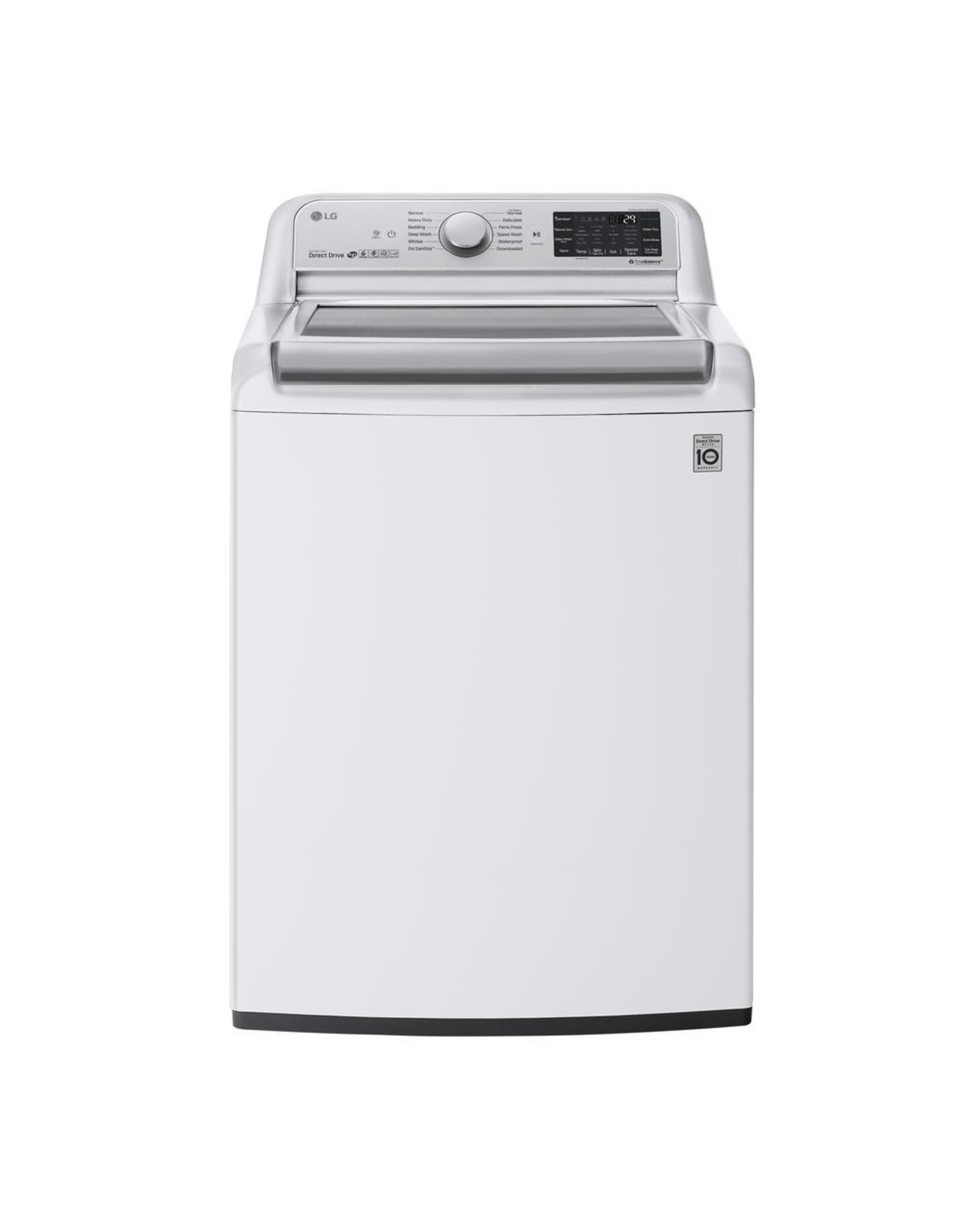 LG Electronics WT7800CW 5.5 cu. ft. High Efficiency Mega Capacity Smart Top Load Washer with TurboWash3D and Wi-Fi Enabled in White, ENSTARERGY