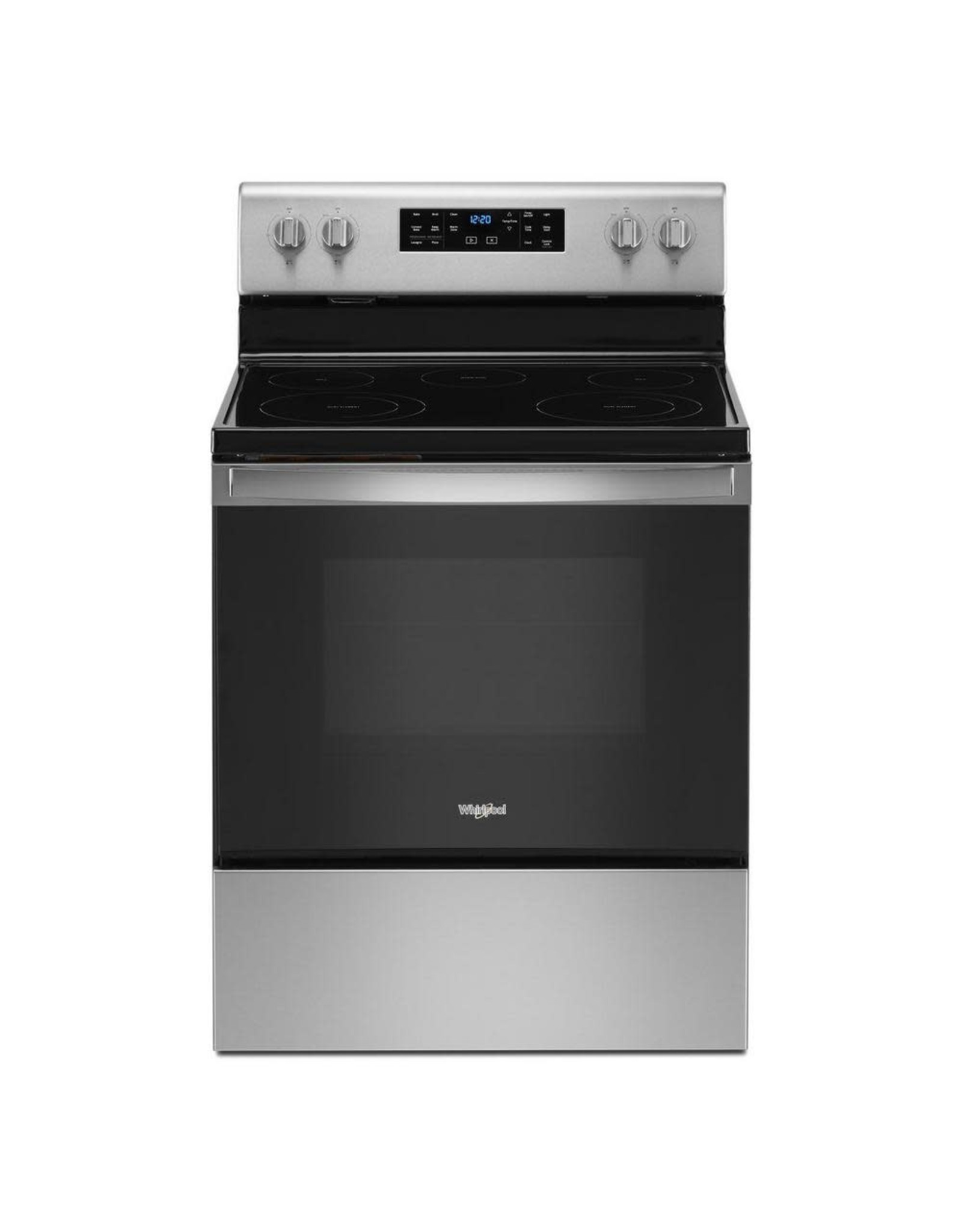 WHIRLPOOL WFE535S0JS 30 in. 5.3 cu. ft. Electric Range with 5-Elements and Frozen Bake Technology in Stainless Steel