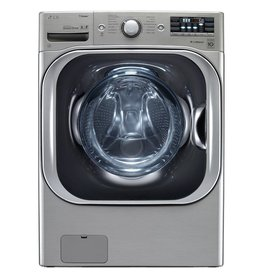 LG Electronics WM8100HVA 5.2 cu. ft. High Efficiency Mega Capacity Front Load Washer with Steam and TurboWash in Graphite Steel, ENERGY STAR