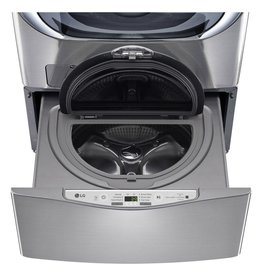 LG Electronics WD200CV 29 in. 1.0 cu. ft. SideKick Pedestal Washer with TWINWash System Compatibility in Graphite Steel