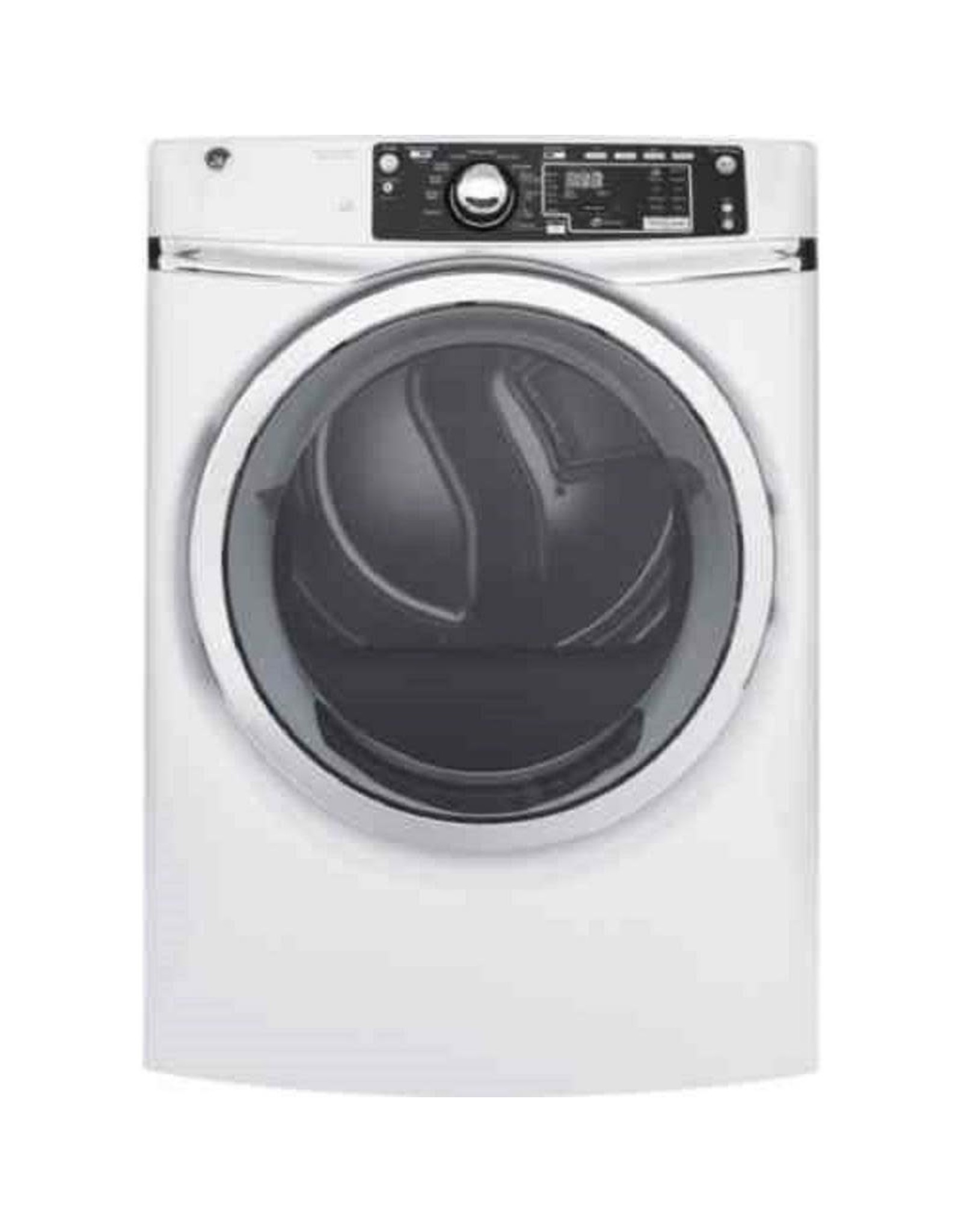 GE GFD48ESSKWW 8.3 cu. ft. 240 Volt White Stackable Electric Vented Dryer with Steam, ENERGY STAR