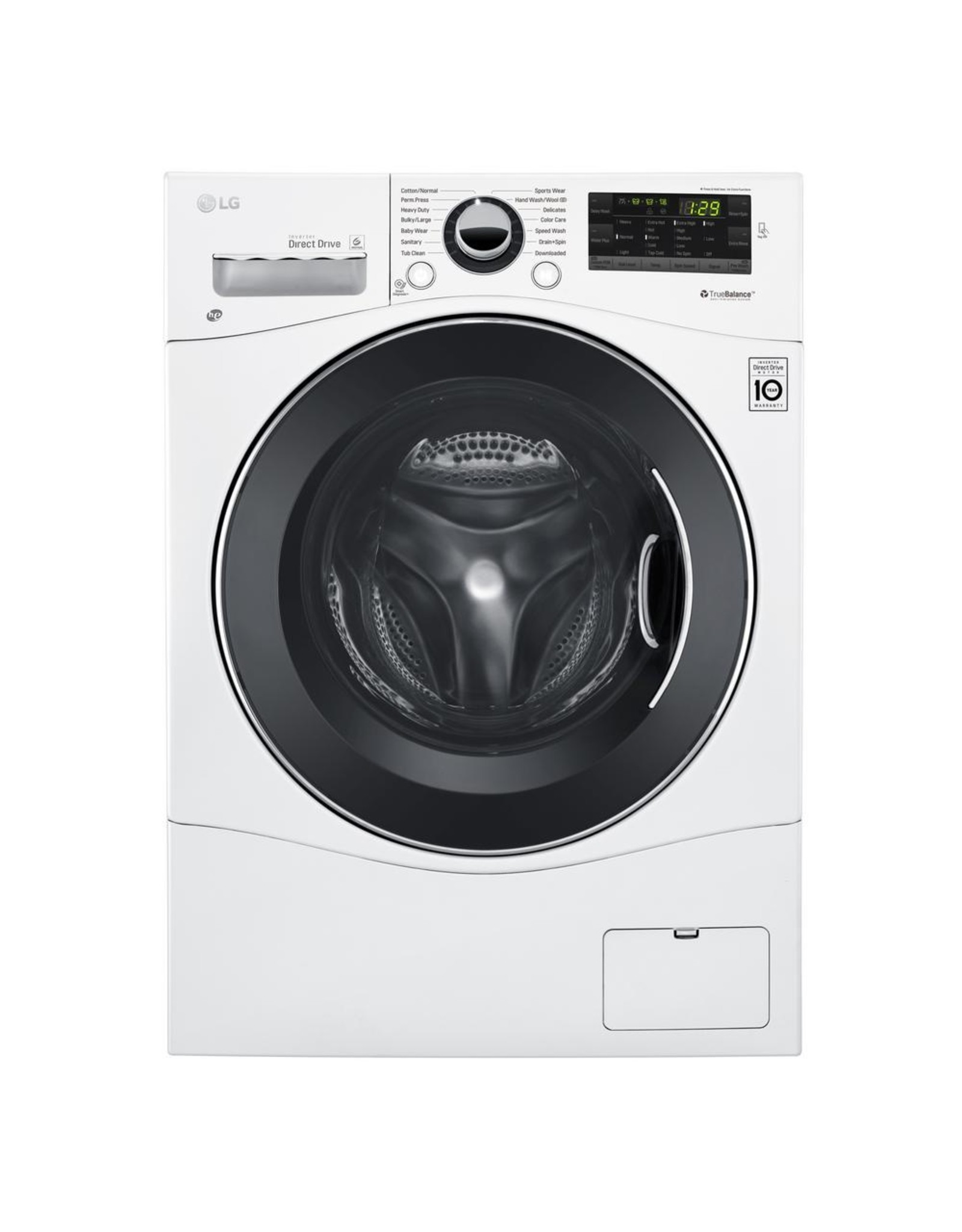 LG Electronics WM1388HW 2.3 cu. ft. High Efficiency Compact Front Load Washer in White, ENERGY STAR