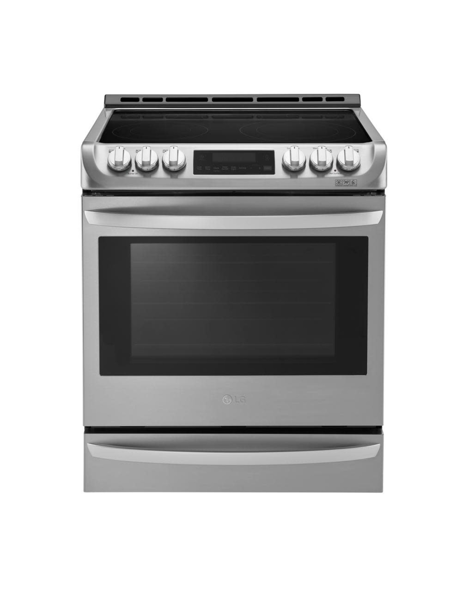 LG Electronics LSE4613ST 6.3 cu. ft. Slide-In Electric Range with ProBake Convection Oven, Self Clean and EasyClean in Stainless Steel