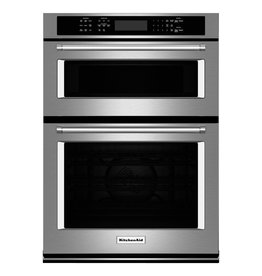 "customer return KOCE500ESS KAD Ovens - Built-in - Food Prep - 30"" COMBO WALL OVEN, UPPER MICROWAVE, LO"