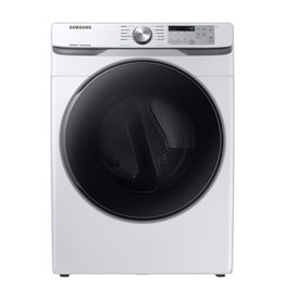 SAMSUNG DVE45R6100W 7.5 cu. ft. White Electric Dryer with Steam