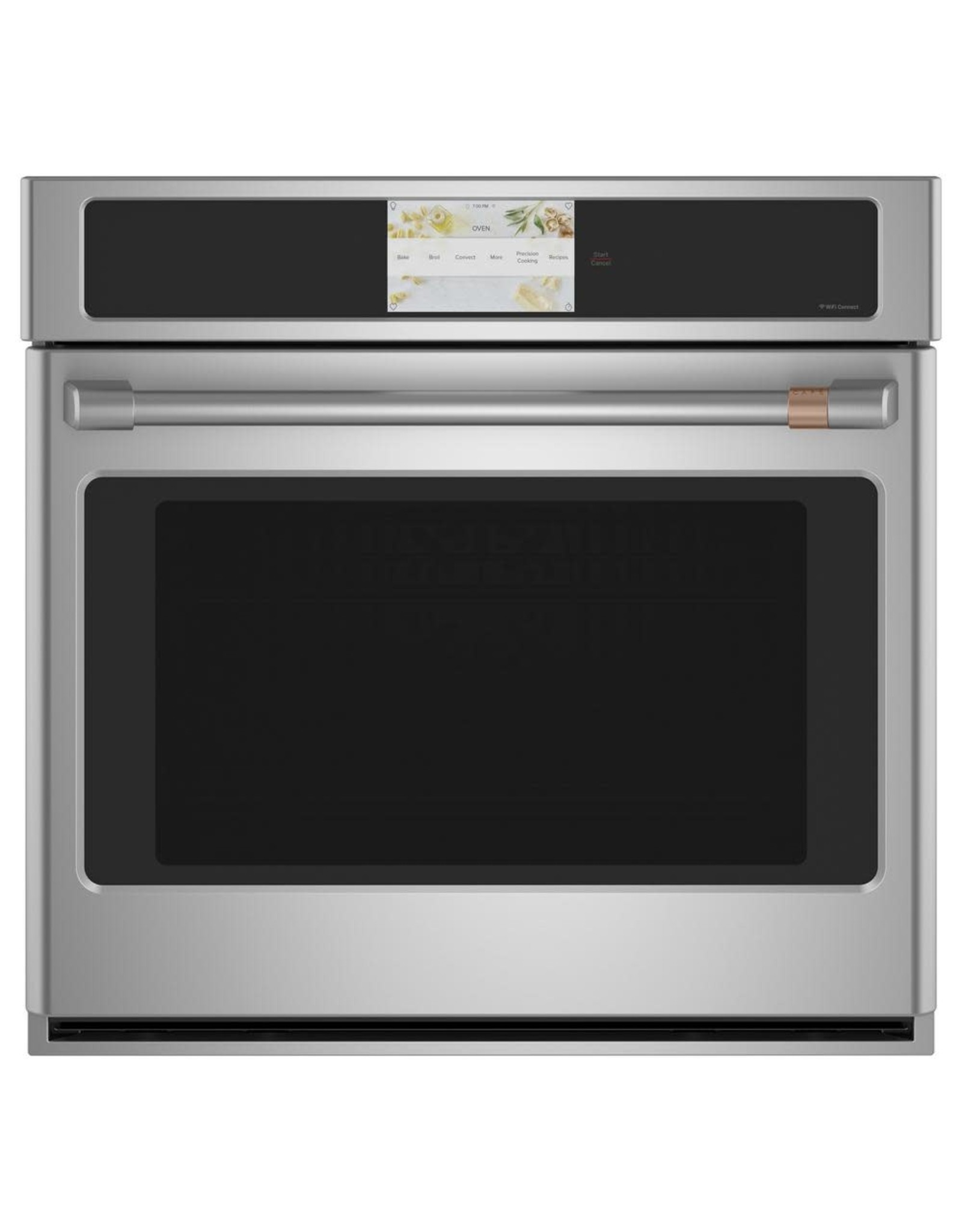 GE Cafe' CTS70DM2NSS 30 in. Smart Single Electric Wall Oven with Convection Self-Cleaning in Platinum Glass