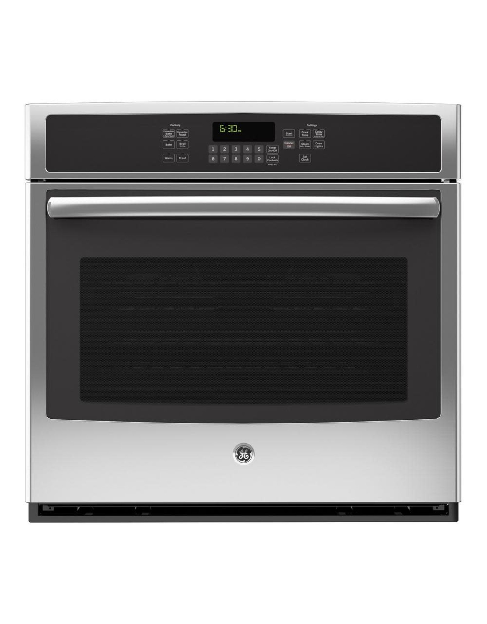 GE JT5000SFSS 30 in. 5.0 cu. ft. Single Electric Wall Oven Self-Cleaning with Steam in Stainless Steel