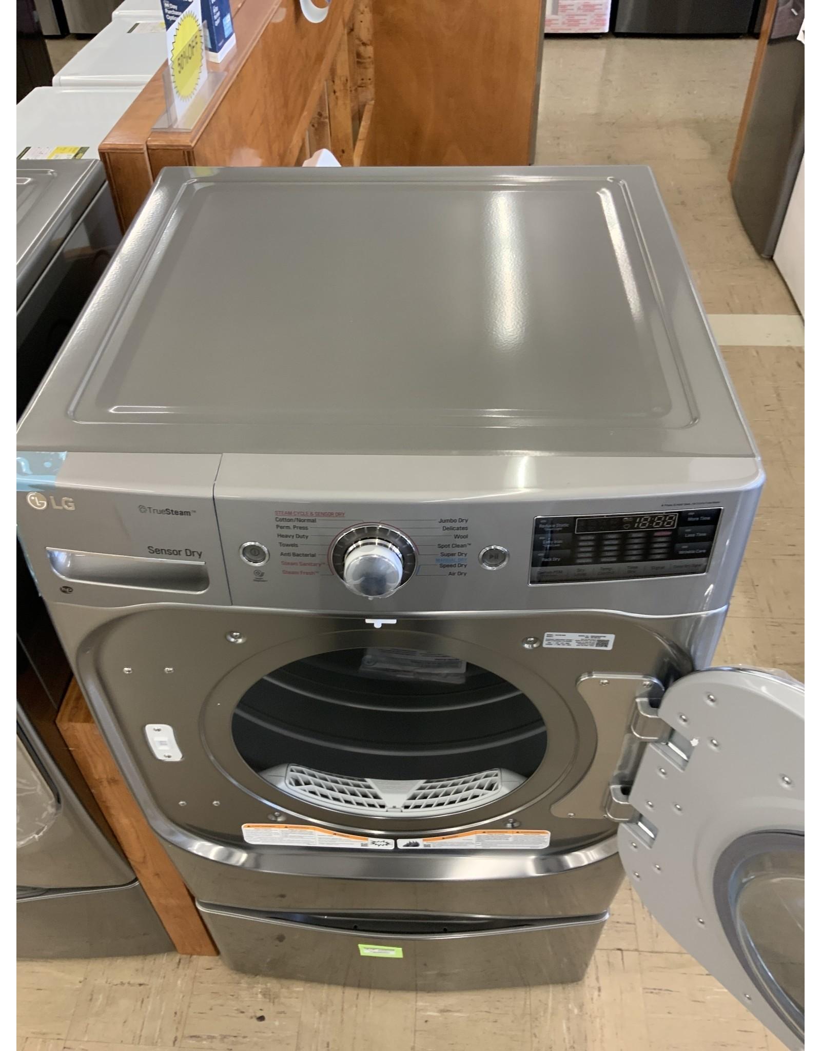 LG Electronics DLEX8100V 9.0 cu. ft. Stackable Front Load Electric Dryer w/ TrueSteam, SteamFresh & Pedestal Compatible in Graphite Steel