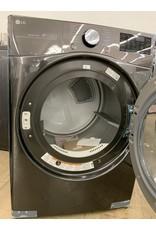 LG Electronics DLEX3900B  7.4 cu. ft Large Smart Stackable Front Load Electric Dryer w/ TurboSteam, Sensor Dry, Pedestal Compatible in Black Steel