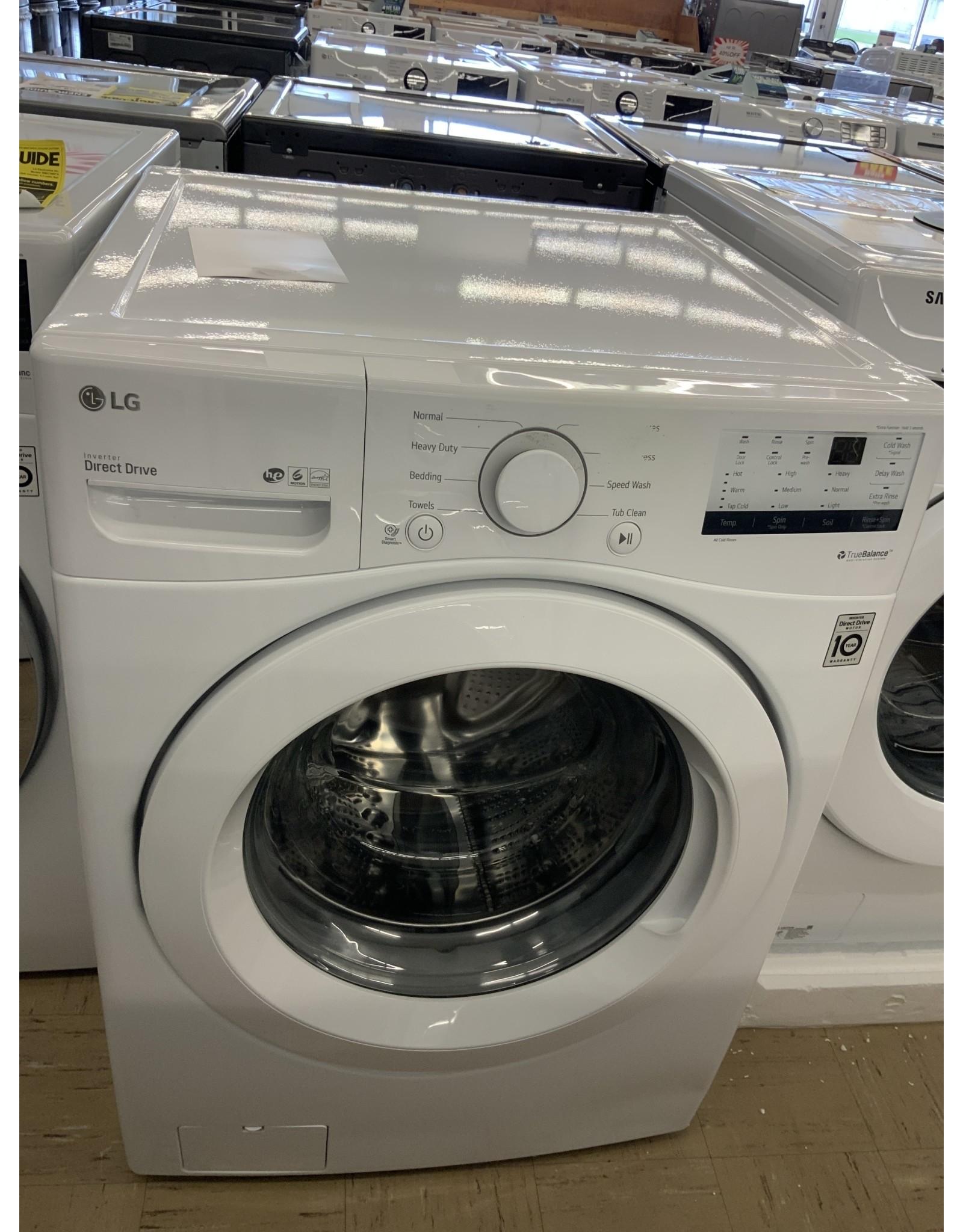 LG Electronics WM3400CW 4.5 cu. ft. Ultra Large Capacity White Front Load Washing Machine with Coldwash Technology