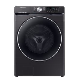 SAMSUNG WF45R6300AV 4.5 cu. ft. High-Efficiency Fingerprint Resistant Black Stainless Front Load Washing Machine with Steam and Super Speed