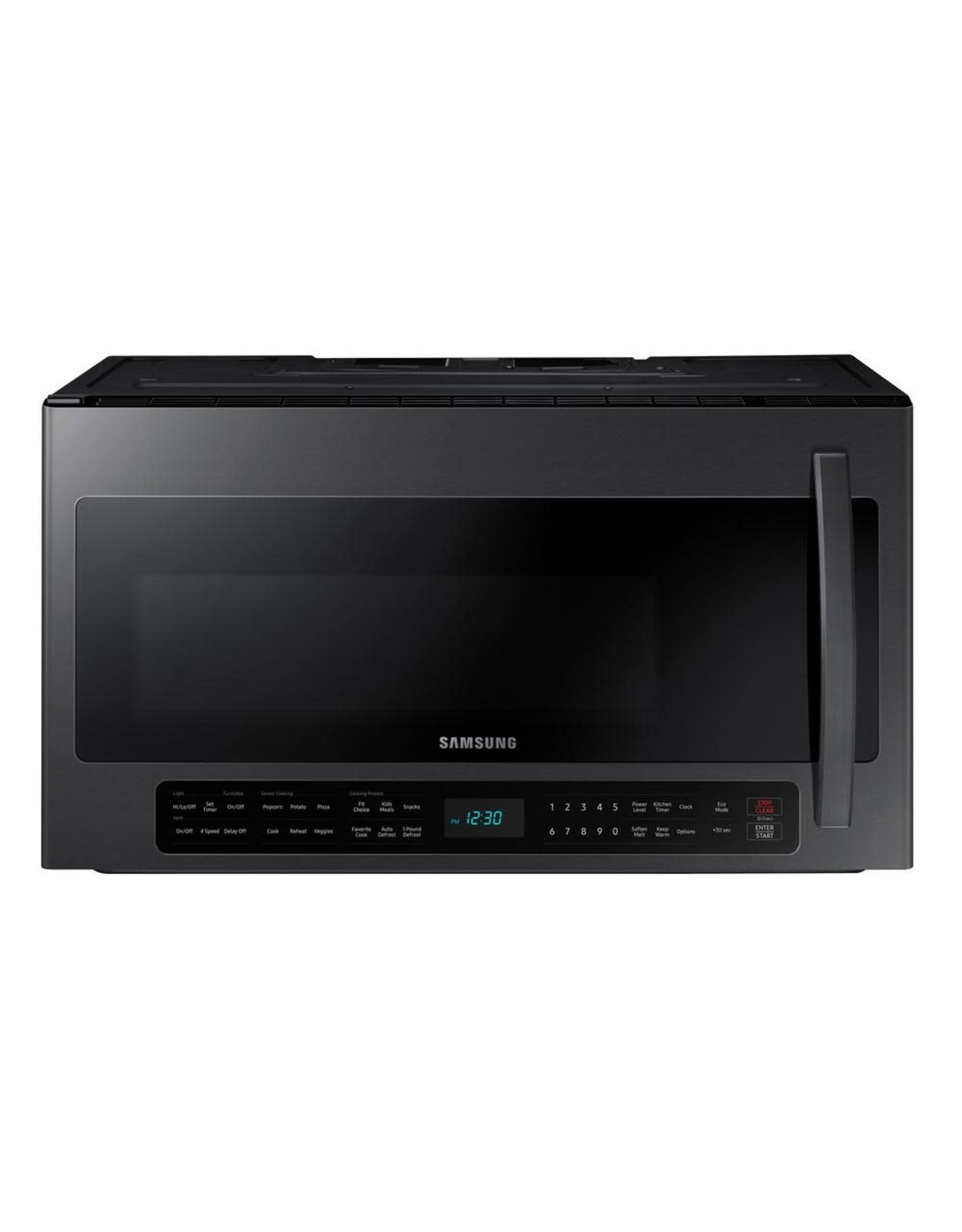 SAMSUNG ME21R7051SG Samsung 2.1 cu. ft. Over-the-Range Microwave with Sensor Cook in Black Stainless Steel