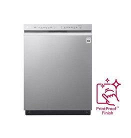 LG Electronics LDF5545SS 24 in Front Control Built-In Tall Tub Dishwasher in PrintProof Stainless Steel w/ QuadWash & Stainless Steel Tub, 48 dBA