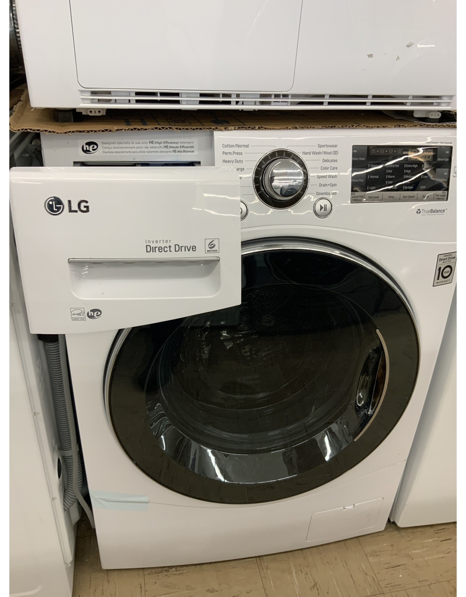 LG Electronics DLEC888W 4.2 cu. ft. White Compact Stackable Front Load Electric Ventless Dryer with Sensor Dry