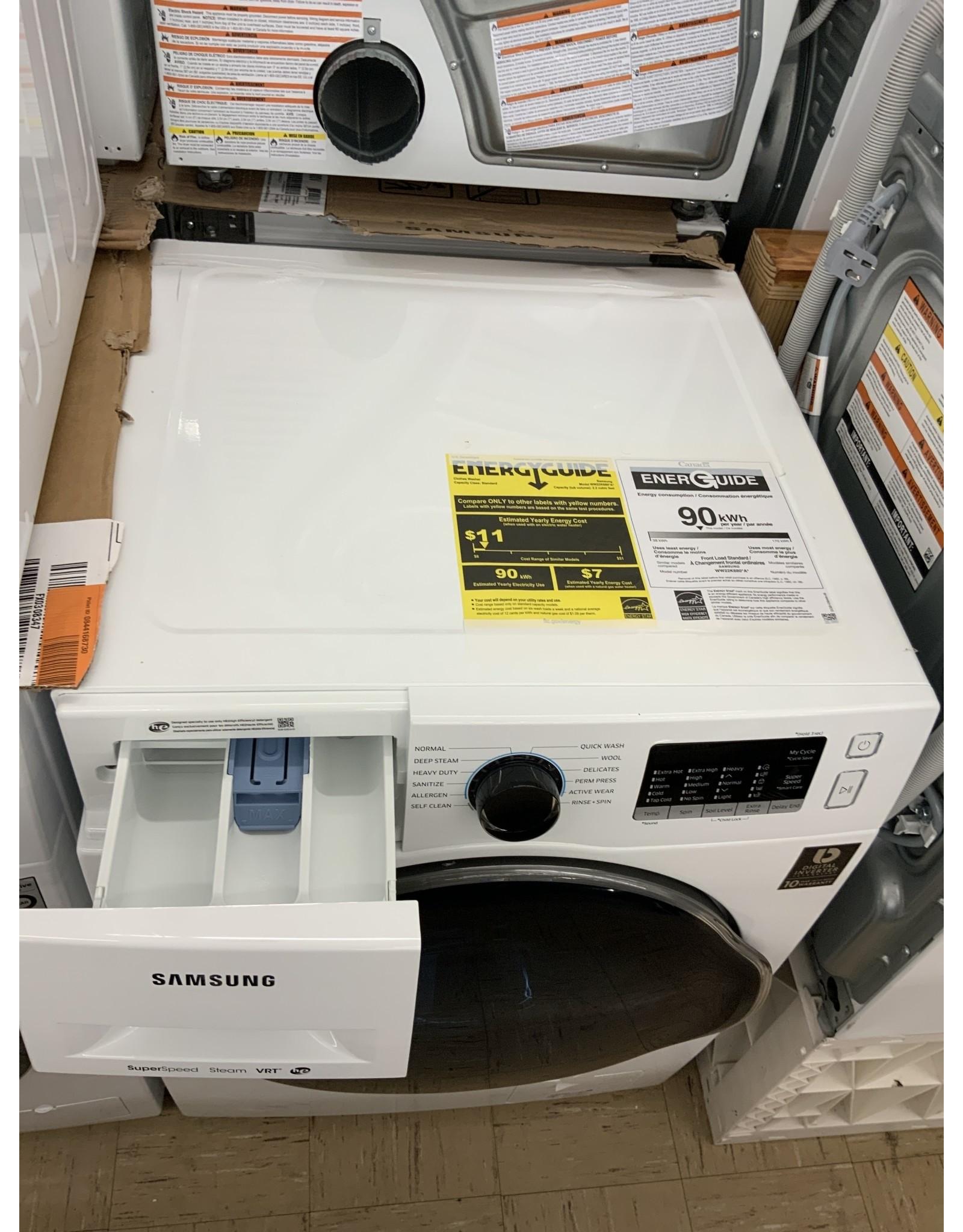 "SAMSUNG WW22K6800AW Samsung 24"" FL Washer w/ Super Speed"