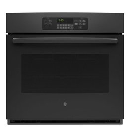 GE JT3000DFBB 30 in. Single Electric Wall Oven Self-Cleaning with Steam in Black