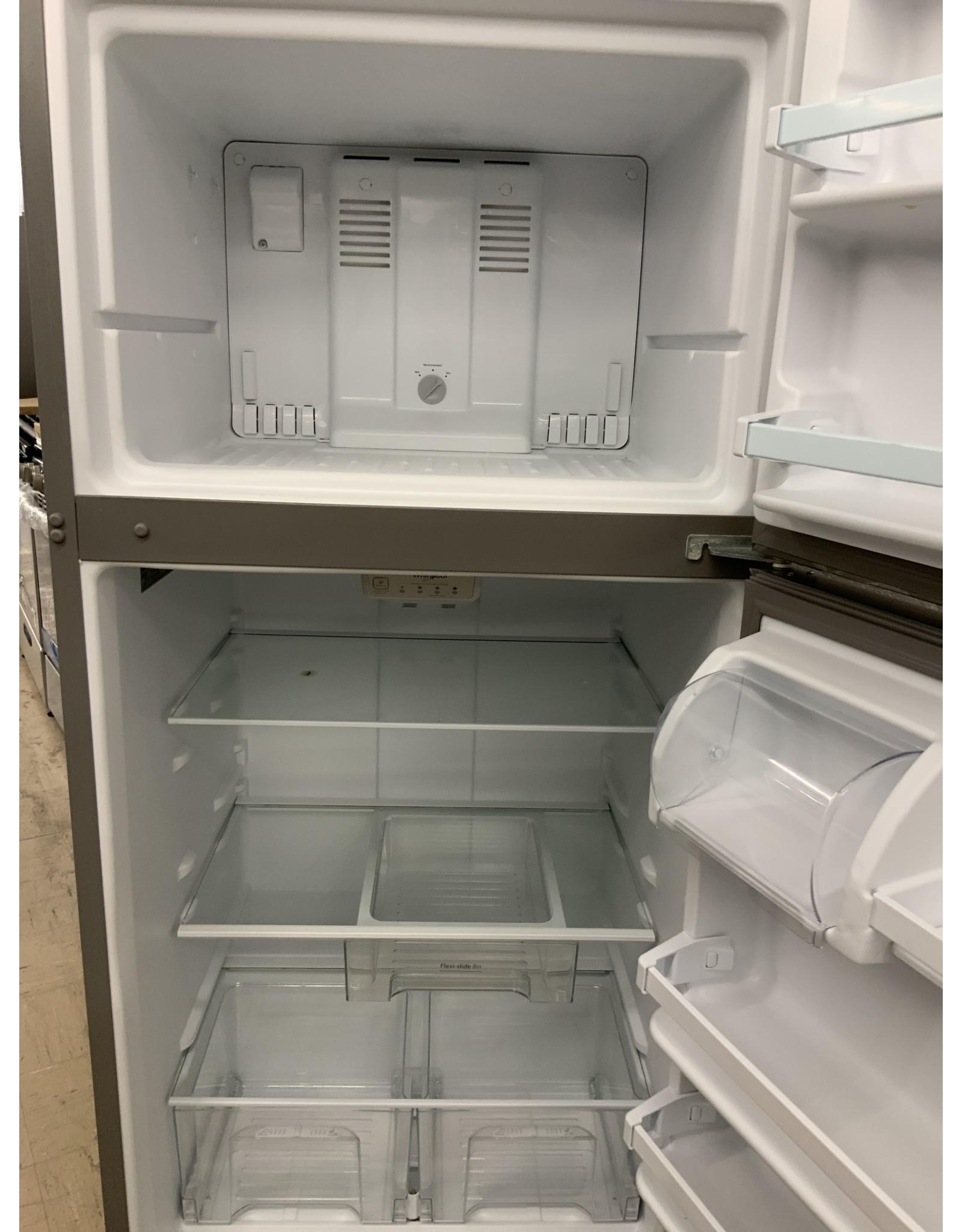 WRT318FZDM WHR No Frost Top - Free Standing Refr Frez - 18 CU FT; STD ENERGY/GLASS RC; SEMI-SMOO