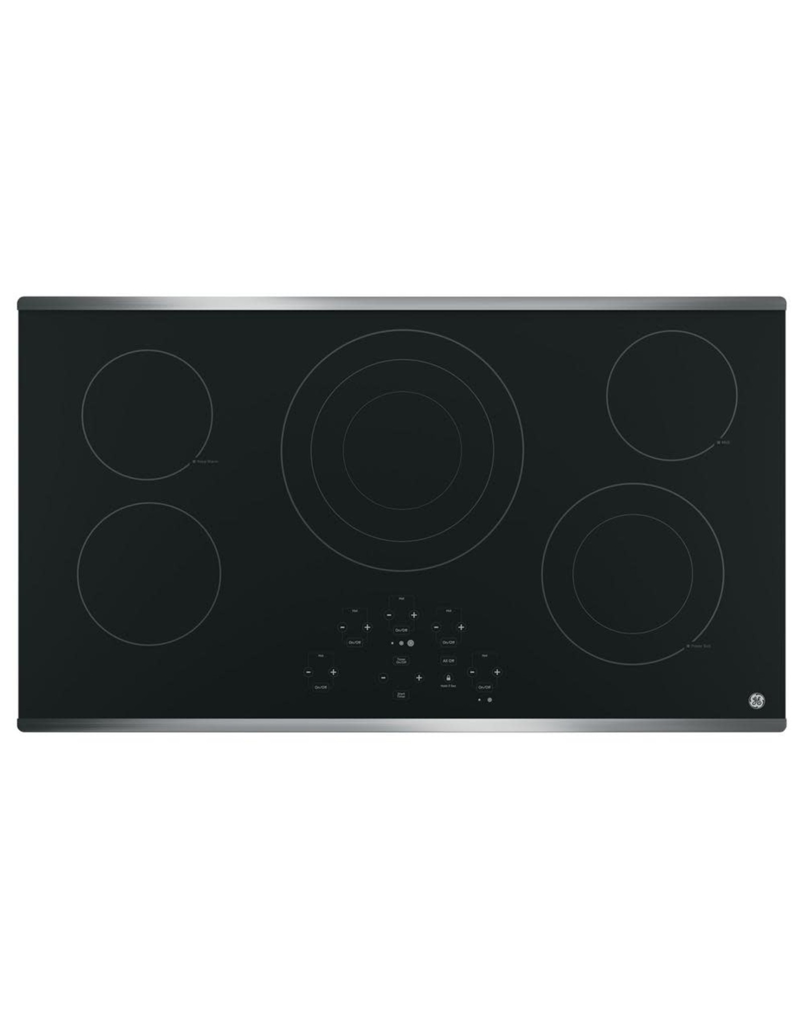 GE JP5036SJSS 36 in. Radiant Electric Cooktop in Stainless Steel with 5 Elements including Power Boil