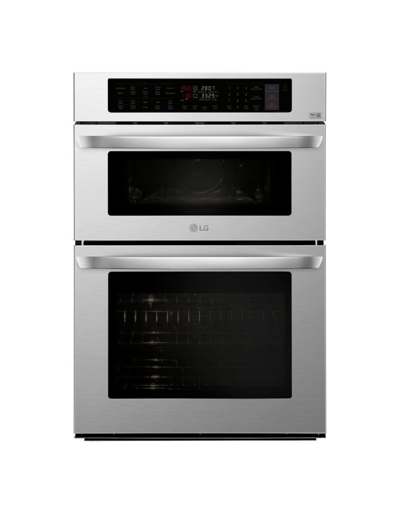 LG Electronics LWC3063ST 30 in. Electric Convection and EasyClean Wall Oven with Built-In Microwave in Stainless Steel