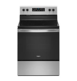 WHIRLPOOL WFE505W0JS0 30 in. 5.3 cu. ft. Electric Range with 5-Elements and Frozen Bake Technology in Stainless Steel