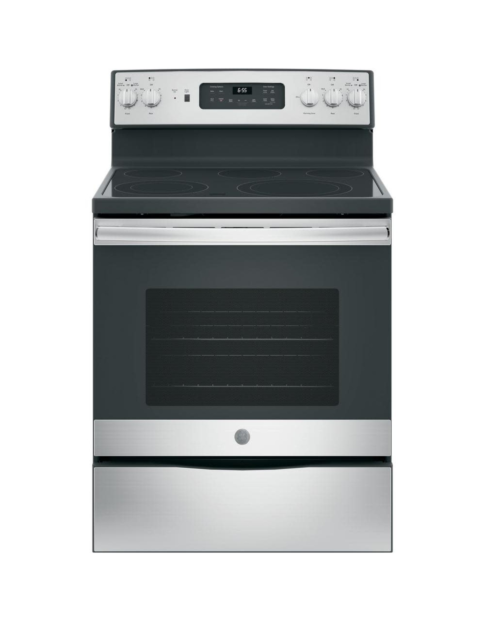 GE GB655SK4SS 30 in. 5.3 cu. ft. Electric Range with Self-Cleaning Convection Oven in Stainless Steel