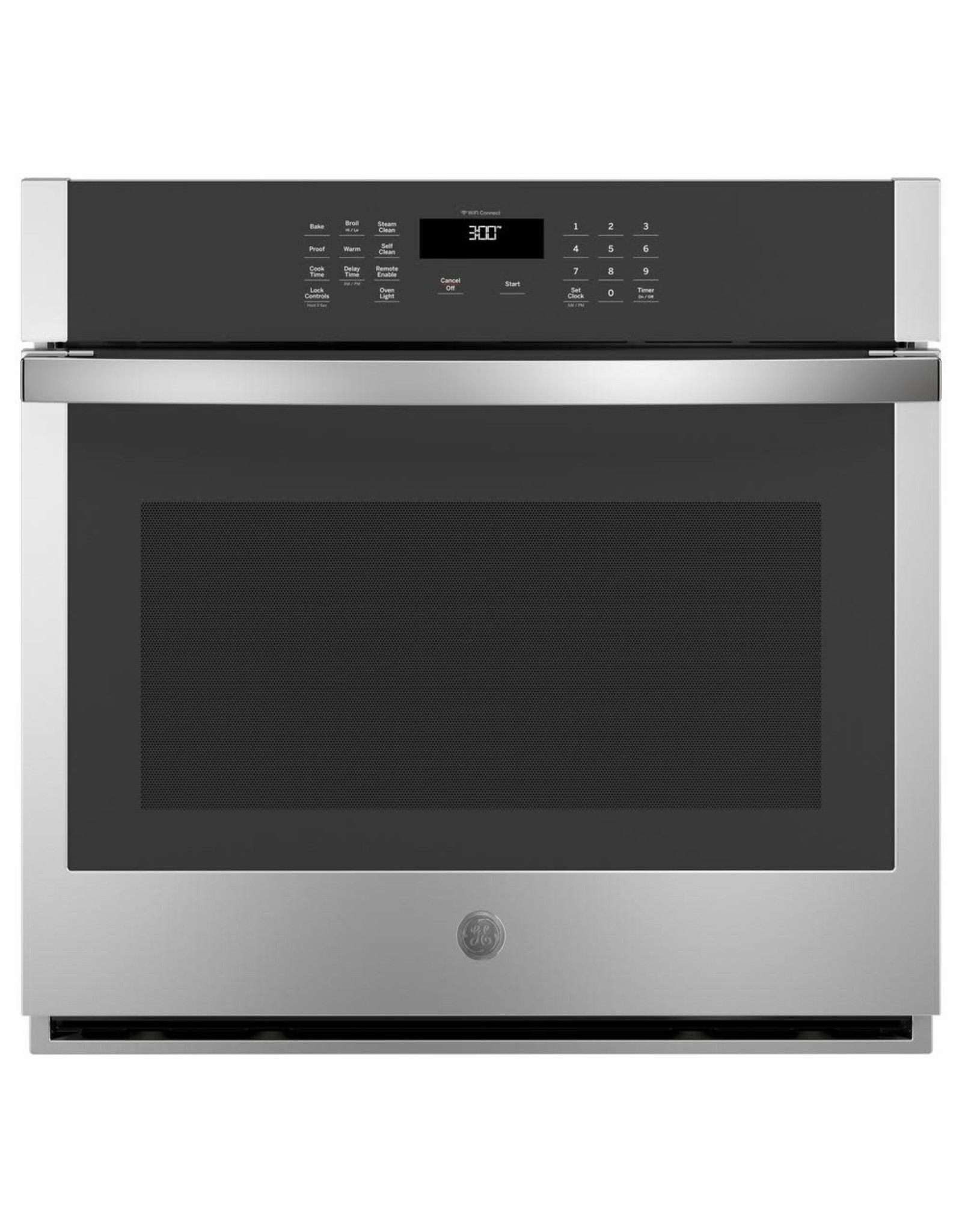 GE JT3000SFSS 30 in. Single Electric Wall Oven Self-Cleaning with Steam in Stainless Steel