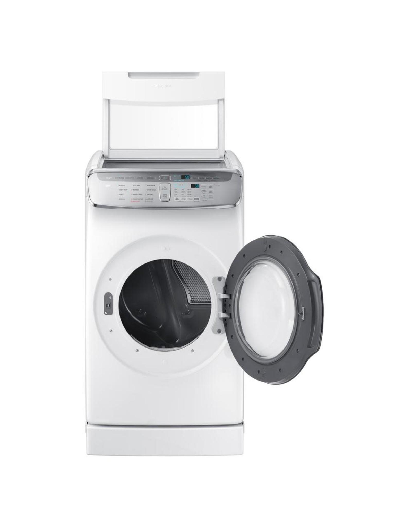 SAMSUNG DVE60M9900W Samsung 7.5 cf electric dryer w/ Multi-Steam (White)